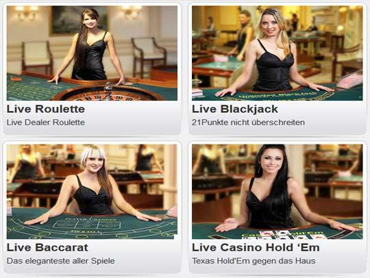 WilliamHill Casino Live Dealers